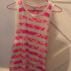 Gap Git Pink Stripe Work Out Tank